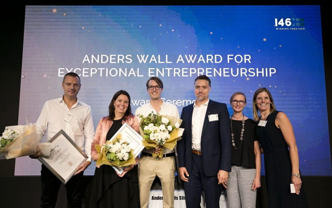 Press release: Willem Sundblad wins The Anders Wall Award for Exceptional Entrepreneurship at Innovate46