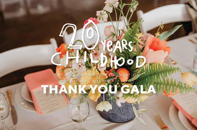 Save the Date! World Childhood Foundation USA: Thank You Gala