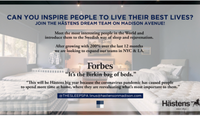 Hästens is looking to grow their team!