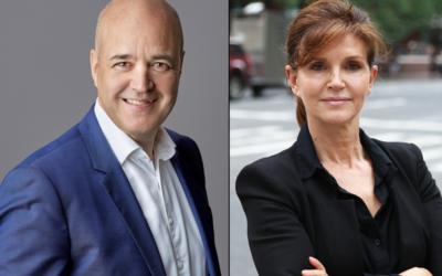 Fredrik Reinfeldt och Anna Throne-Holst tar plats som experter i TV4:s omfattande bevakning av USA-valet